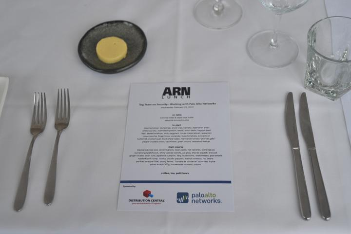 IN PICTURES: ARN Lunch - Tag team on security with Palo Alto Networks' Ron Myers