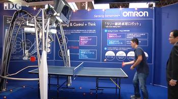 CEATEC: Can this robot beat a human at ping pong?