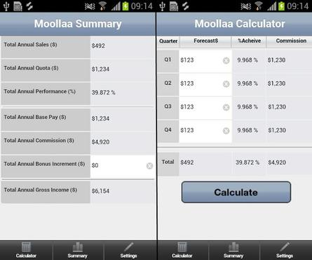 Moollaa Commission Calculator