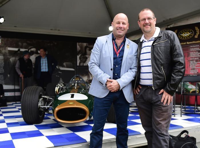 Rudi Tuisk and Simon Hackett at the Melbourne Grand Prix.
