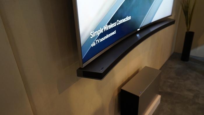 Samsung's 8500 series soundbar and wireless woofer
