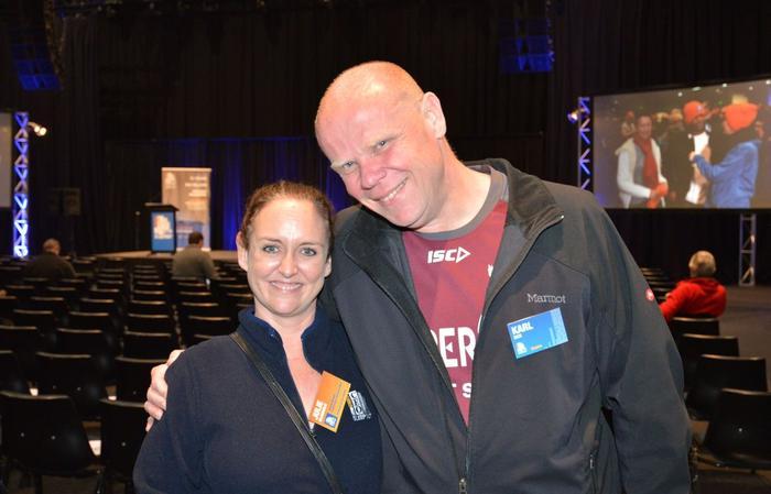 Julie McDonald (Vinnies) and Karl Sice (Staples)