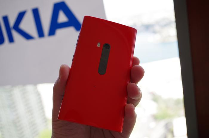 The red model of the Lumia 920. As you can see the finish is glossy rather than matte.