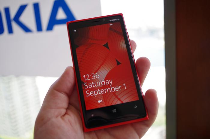 The Lumia 920 is noticeably heavier than competitors, but it also feels incredibly well built.