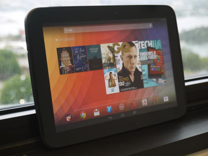 The Nexus 10's display is impressive, offering vivid colours, great viewing angles and excellent brightness.