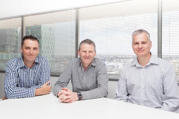 The Permeance executive team (L-R) Paul Robinson, Shayne Tanner and Terry Mueller.