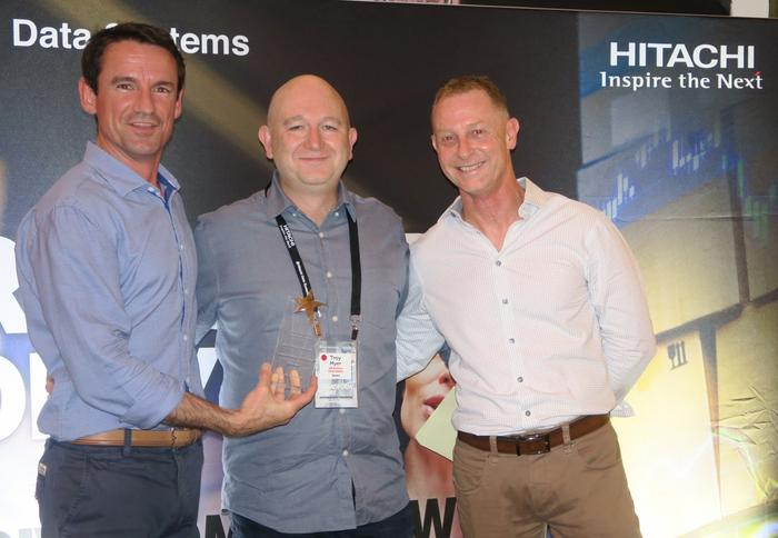 Nathan McGregor (Hitachi Data Systems A/NZ), Troy Myer (Revera), and Phil Teague (HDS A/NZ)
