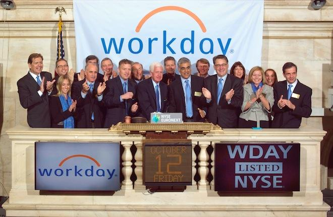 Workday launched its initial public offering (IPO) in October 2012
